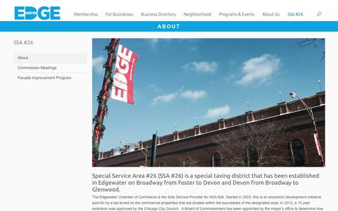 Screenshot of About Page edgewater.org - About | Edgewater Chamber of Commerce - captured Oct. 26, 2016