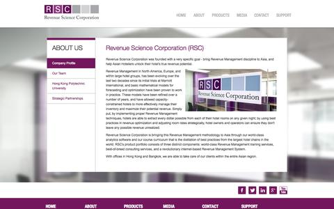 Screenshot of About Page revenuesciencecorp.com - Company Profile - Revenue Science Corporation - captured Oct. 8, 2014