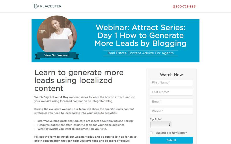 Placester Webinar: How to Generate More Leads with Placester