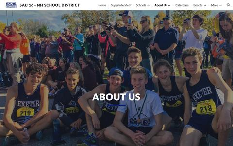 Screenshot of About Page google.com - SAU 16 - NH School District - About Us - captured Nov. 5, 2018