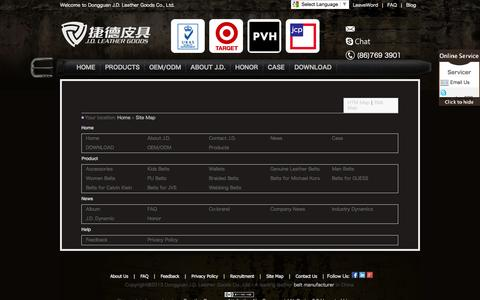 Screenshot of Site Map Page chinajdleather.com - Website map_J.D. Leather Goods - captured Oct. 5, 2014