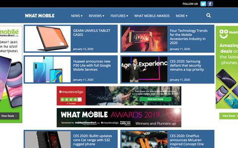 Screenshot of Press Page whatmobile.net - News - What Mobile - captured Jan. 21, 2020