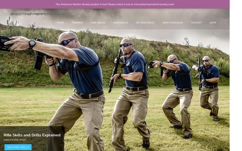 Screenshot of Home Page shooting-performance.com - Shooting Performance - captured March 30, 2016