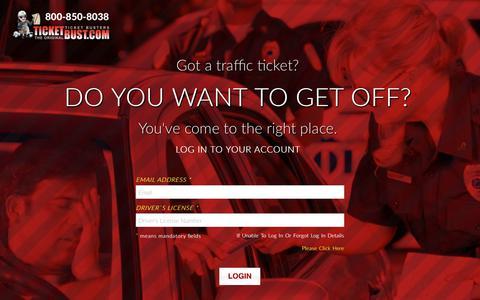 Screenshot of Login Page ticketbust.com - TicketBust - captured Sept. 26, 2018