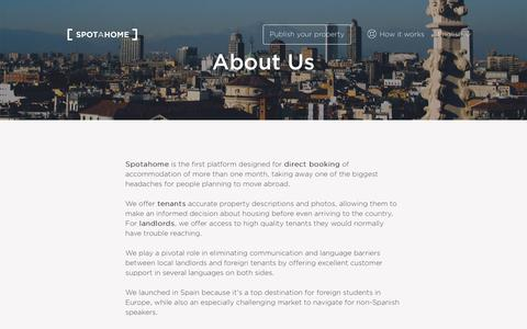 About Us | Spotahome