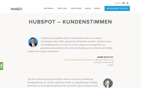Screenshot of Testimonials Page hubspot.de - HubSpot | Kundenstimmen - captured Dec. 5, 2016