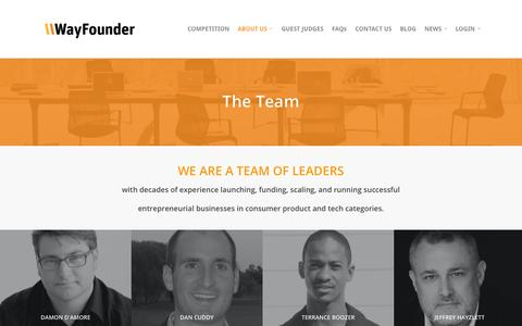 Screenshot of Team Page wayfounder.com - THE TEAM | WayFounder.com - captured Oct. 29, 2014