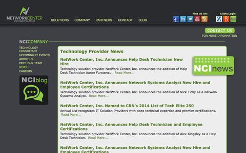 Screenshot of Press Page netcenter.net - Technology Provider News  | Network Center, Inc. Fargo, Grand Forks - captured Oct. 9, 2014