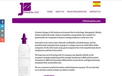 Screenshot of Home Page jzenterprise.com - Home: JZ Enterprise, LLC - captured Oct. 6, 2014