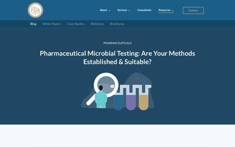 Screenshot of Blog thefdagroup.com - Blog | The FDA Group - captured July 6, 2019