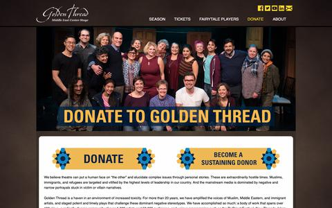 Screenshot of Support Page goldenthread.org - Donate | Golden Thread Productions - captured Sept. 29, 2018