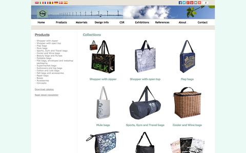 Screenshot of Products Page re-bag.com - Mulebag/shopper/shoppingbag/packaging/PP-bag/PET-bag/Cotton-bag - Re-bag - captured Oct. 7, 2014