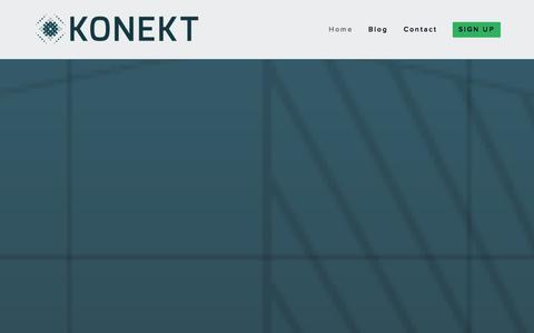 Screenshot of Home Page konektdata.com - Konekt | Cellular Connectivity for Hardware Made Simple - captured Oct. 6, 2014