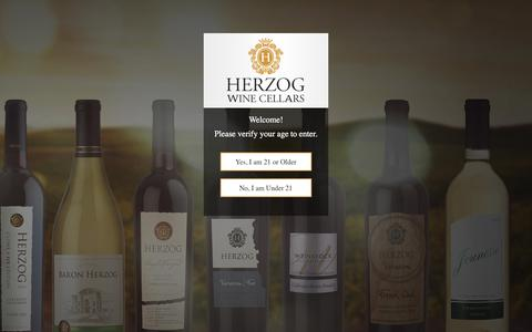 Screenshot of Signup Page herzogwine.com - Wine Clubs | Herzog Wine Cellars - captured July 19, 2018