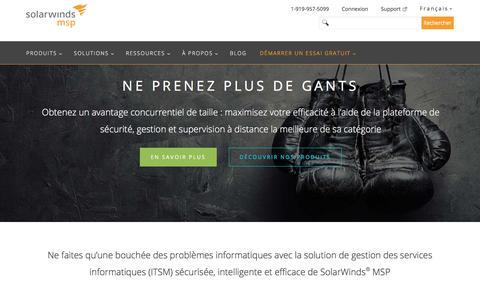 SolarWinds MSP : première plateforme mondiale de gestion des services informatique (ITSM)