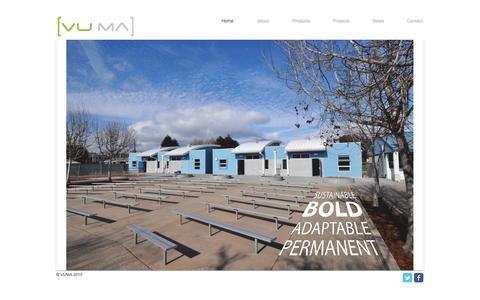 Screenshot of Home Page vu-ma.com - vuma-1 - captured Nov. 30, 2016
