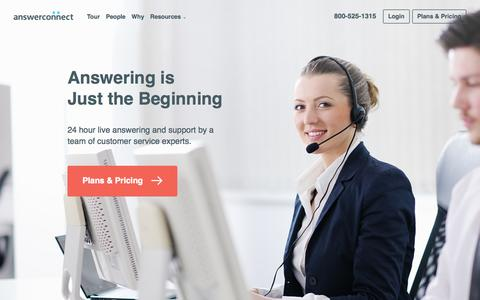 Screenshot of Services Page answerconnect.com - Services | AnswerConnect - captured Oct. 21, 2015