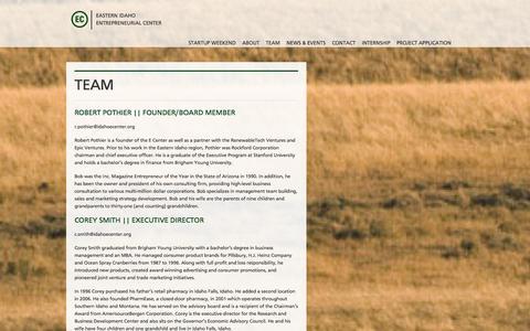 Screenshot of Team Page idahoecenter.org - EC | Entrepreneur Center  Team - captured Oct. 1, 2014