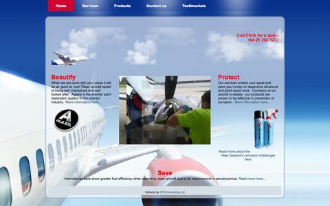 Screenshot of Home Page adnz.co.nz - Aircraft Detailing New Zealand - Home - captured Oct. 4, 2014