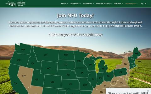 Screenshot of Signup Page nfu.org - Join NFU   National Farmers Union - captured Nov. 28, 2016