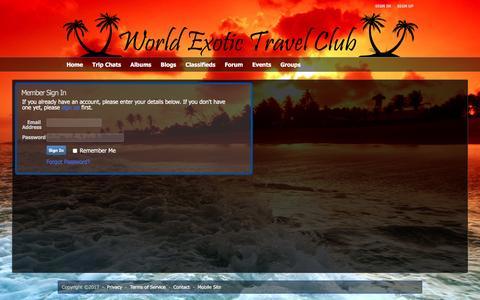 Screenshot of Login Page worldexotictravelclub.com - Au Naturel and Nudist World Exotic Travel Club - Sign-in - captured Jan. 10, 2017