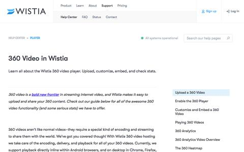 360 Video in Wistia — Support — Wistia