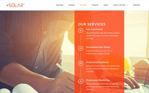 Screenshot of Services Page plus-solar.com.my - Services | +SOLAR® - captured Aug. 4, 2017