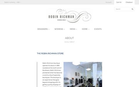 Screenshot of About Page robinrichman.com - ABOUT                         – robin richman - captured March 28, 2016