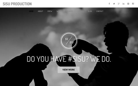 Screenshot of Home Page sisuproduction.com - sisu production – film production and photography - captured Sept. 30, 2014