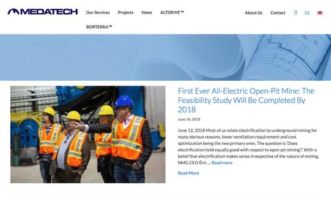 Screenshot of Press Page medatech.ca - News - MEDATECH Engineering Services - captured Oct. 1, 2018