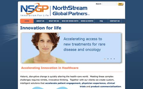Screenshot of Home Page nsgpllc.com - Home - NorthStream Global Partners - captured Oct. 7, 2014