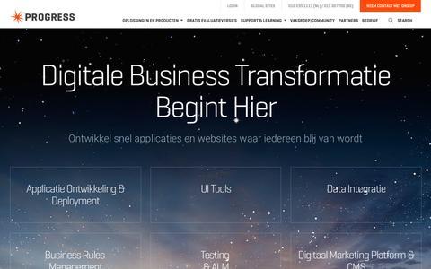 Screenshot of Home Page progress.nl - Progress - Application Development en Digital Marketing Platform - captured April 17, 2016