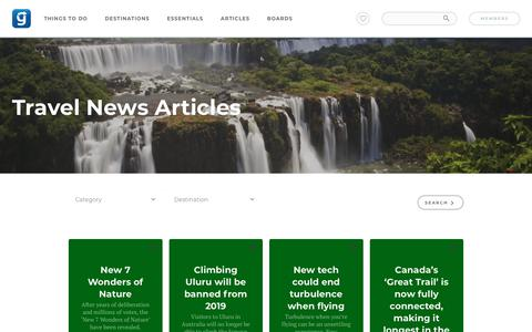 Screenshot of Press Page gapyear.com - Travel News Archives | Gap Year - captured March 11, 2018