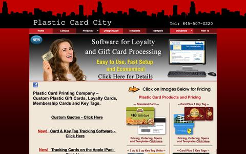 Screenshot of Home Page plastic-card-city.com - Plastic Card Printing - Plastic Cards, Key Tags and Programs - captured Nov. 5, 2018