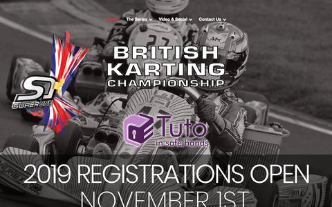 Screenshot of Home Page superoneseries.com - Super One Series | The British Kart Racing Championships - captured Oct. 18, 2018