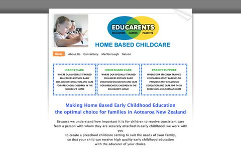 Screenshot of Home Page educarents.com - ​​​Educarents coordinates high quality, affordable home based childcare and education services - Home - captured July 17, 2017