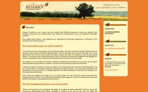 Screenshot of Services Page anlage.fr - Services - Anlage - captured Oct. 4, 2014