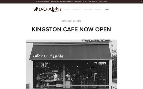 Screenshot of Press Page breadalone.com - News — Bread Alone - captured Feb. 8, 2016