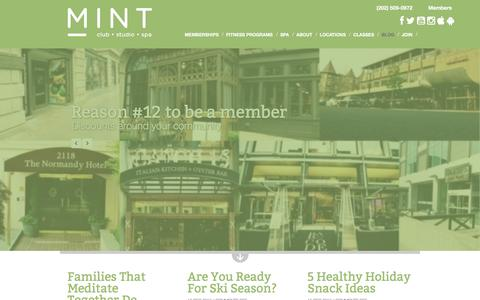 Screenshot of Blog mintdc.com - Fitness Blog | MINT DC | MINT DC - captured Dec. 17, 2015