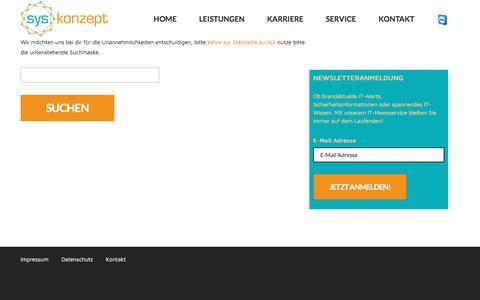 Screenshot of Blog syskonzept.de - syskonzept – Systemhaus aus Taufkirchen bei München - captured June 17, 2017