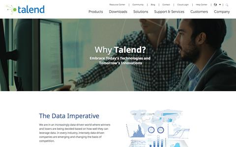 Why Talend: Data-Driven Analytics on a Unified Platform
