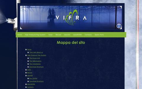 Screenshot of Site Map Page vifraitaly.com - VIFRA di Vincenzo Russo: Home - Fog System - captured Feb. 14, 2016