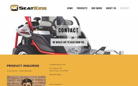 Screenshot of Contact Page seatkingllc.com - Contact Ń Seat King LLC - captured Jan. 12, 2016