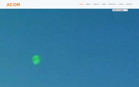 Screenshot of Home Page acorinternational.com - Acor International   A fun partner solution - captured Oct. 4, 2014