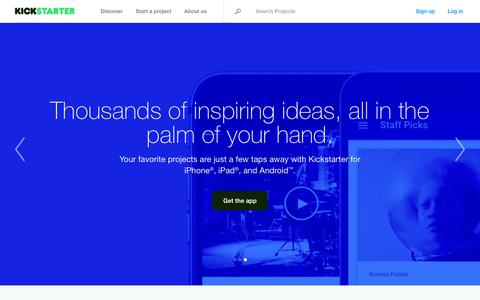 Screenshot of Home Page kickstarter.com - Kickstarter - captured Feb. 13, 2016