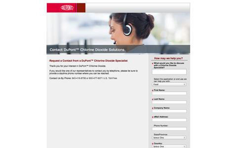 Screenshot of Landing Page dupont.com captured Oct. 27, 2014