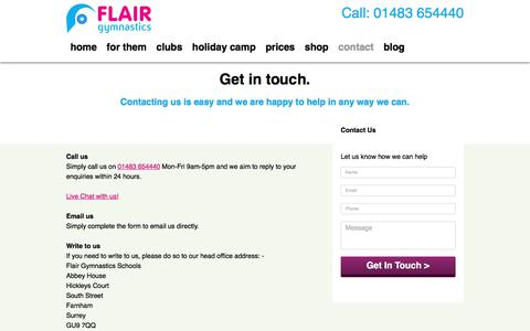 Screenshot of Contact Page ukflair.com - Contact | UK Flair - captured Oct. 14, 2017