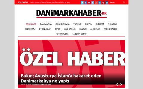 Screenshot of Home Page danimarkahaber.dk - ANA SAYFA - Danimarkahaber.dkDanimarkahaber.dk - captured Jan. 21, 2015