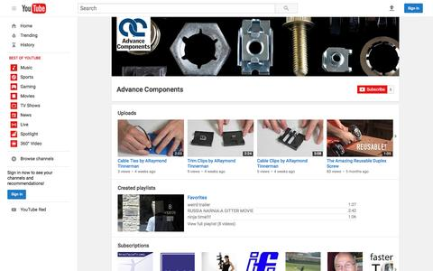 Advance Components  - YouTube
