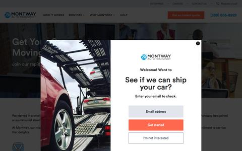 Screenshot of Jobs Page montway.com - Careers   Montway Auto Transport - captured July 20, 2018